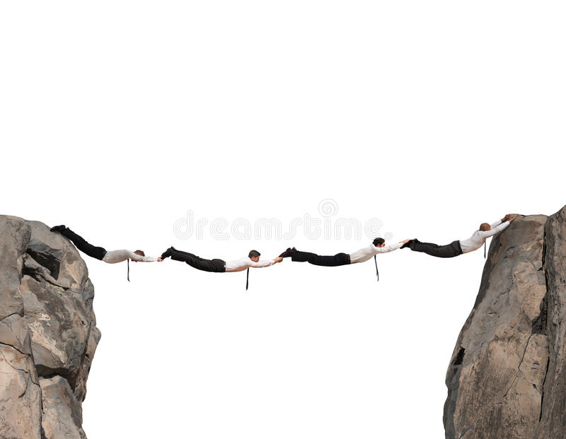 De bedrijfsmensen overbruggen stock foto