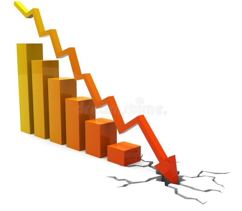 De bedrijfsneerstorting toont Financieel verslag en Biz vector illustratie
