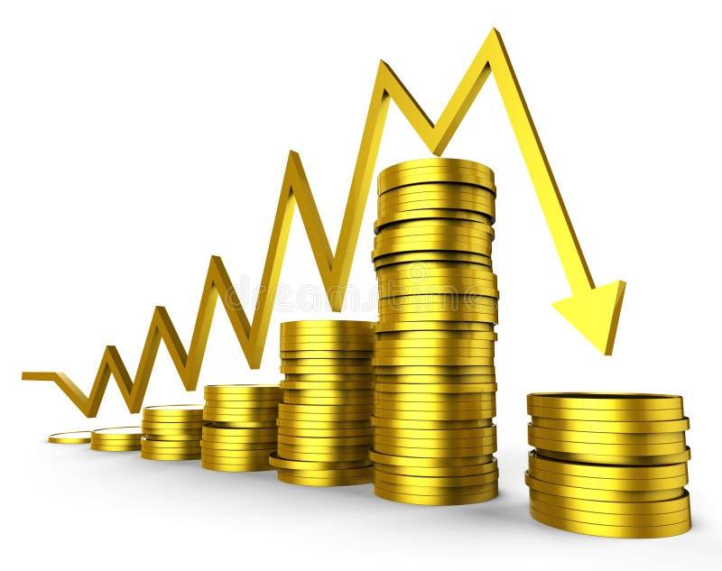 De bedrijfsrecessie betekent Grafische Handel en Bedrijf vector illustratie