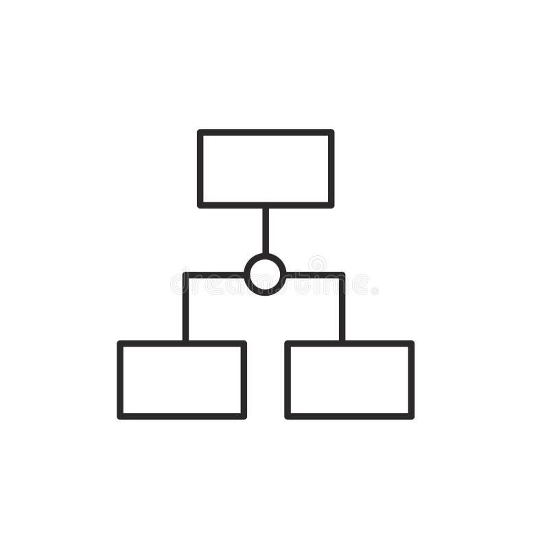 De bedrijfsstrategie bracht Vectorlijnpictogram, Organisatie vectorpictogram met elkaar in verband royalty-vrije illustratie