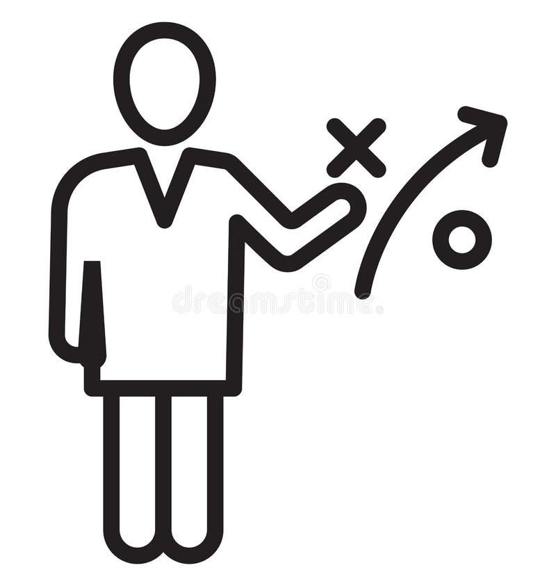 De bedrijfsstrategie, zakenman Isolated Vector Icon kan gemakkelijk zijn uitgeeft en wijzigt zich stock illustratie