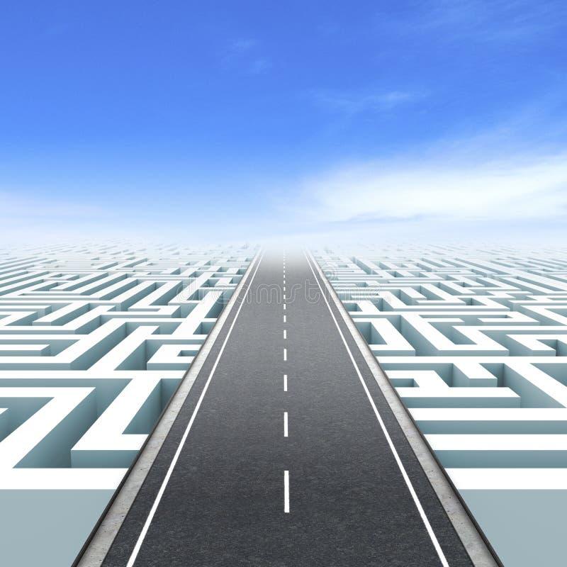 De bedrijfsweg van de leiding en vector illustratie