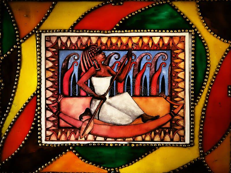 De beeld-stijl Egypte - in het kader NIEUW product dat van ceramische harsmaterialen wordt gemaakt! DE STIJL VAN EGYPTE stock afbeelding