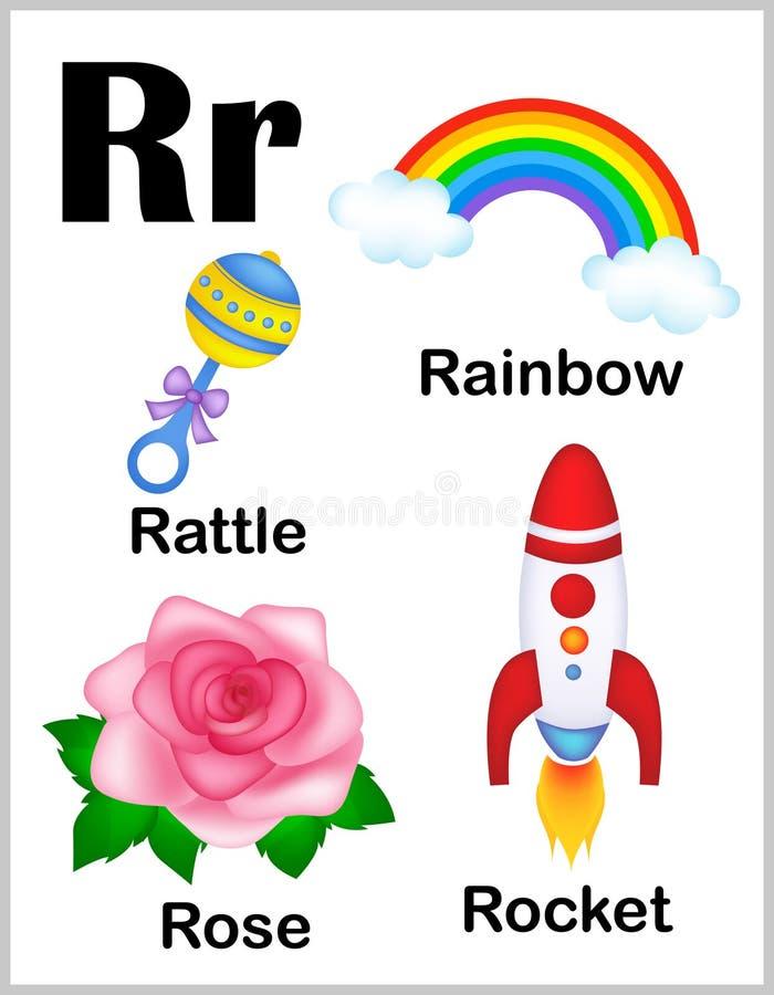 De beelden van de alfabetbrief R stock illustratie