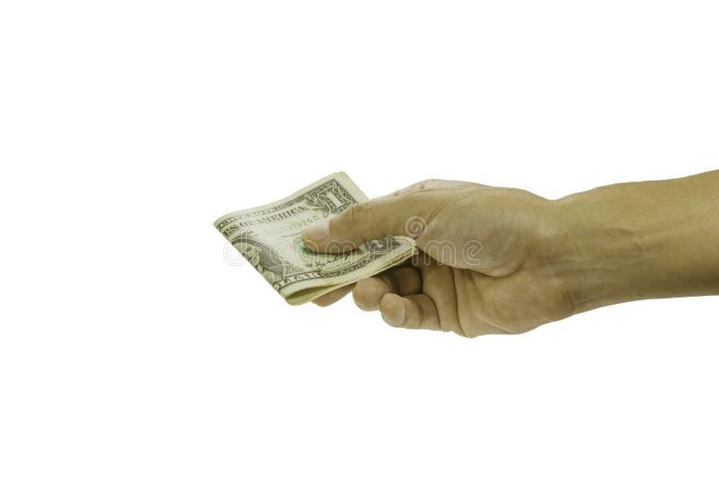 De beelden van de mensenhand namen het verzonden geld royalty-vrije stock foto