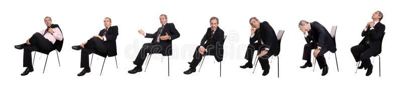 De beelden van de zakenman stock foto's