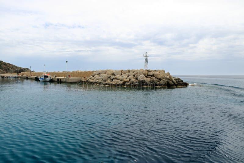 De beelden van een mooi eiland riepen gavdos, het zuidelijkste eiland in Europa royalty-vrije stock foto
