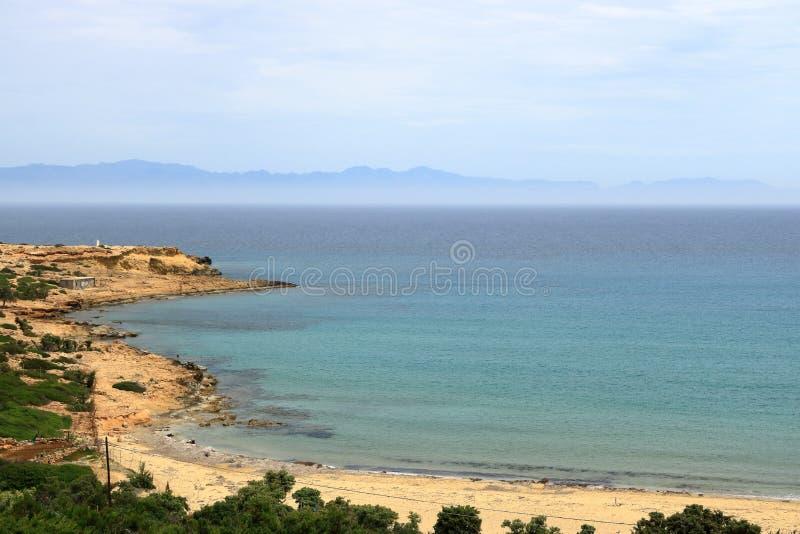 De beelden van een mooi eiland riepen gavdos, het zuidelijkste eiland in Europa royalty-vrije stock afbeeldingen