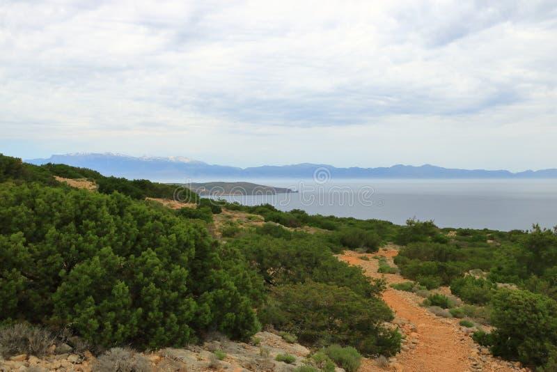 De beelden van een mooi eiland riepen gavdos, het zuidelijkste eiland in Europa royalty-vrije stock fotografie