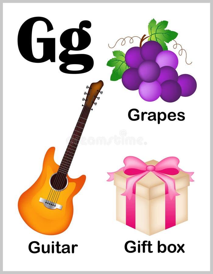 De beelden van G van de alfabetbrief royalty-vrije illustratie