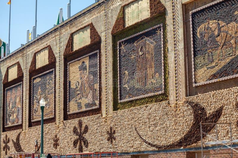 De beelden van het graanpaleis, Mitchell, Zuid-Dakota, de V.S. stock fotografie