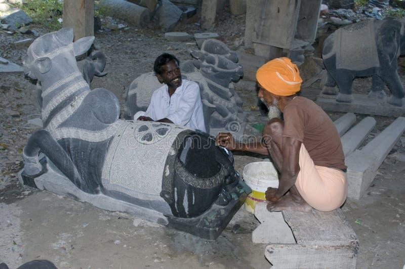 De beeldhouwers van de steen royalty-vrije stock afbeeldingen