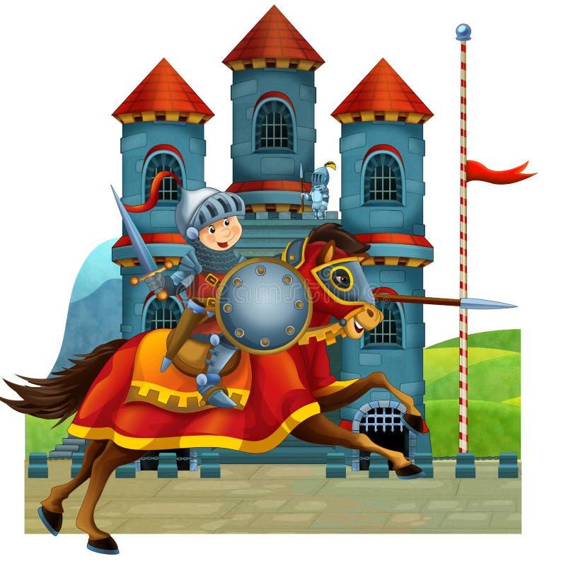 De beeldverhaal middeleeuwse illustratie voor de kinderen - titelpagina - misc gebruik vector illustratie