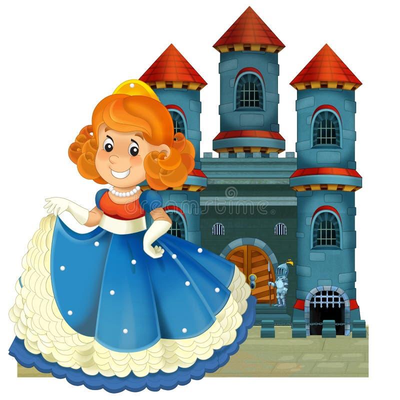 De beeldverhaal middeleeuwse illustratie voor de kinderen - titelpagina - misc gebruik royalty-vrije illustratie