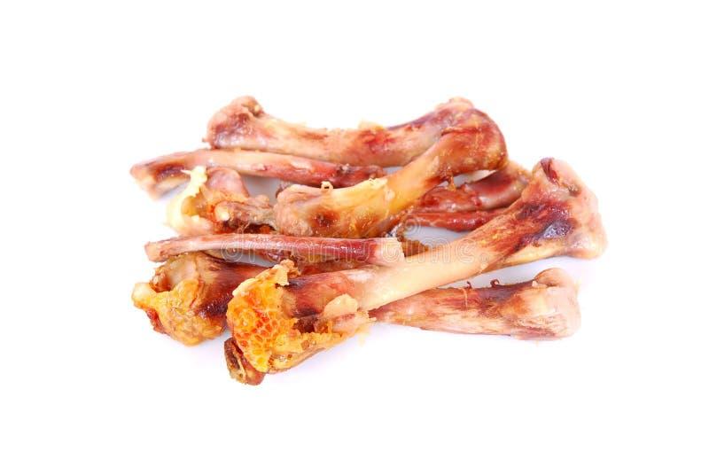 De beenderen van de kip stock foto's