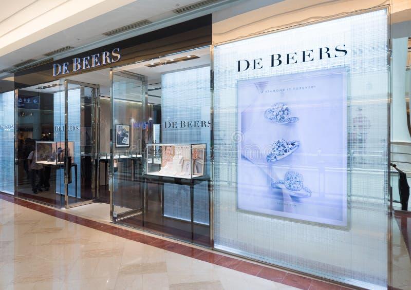 De Beers商店在Suria KLCC,吉隆坡 库存图片