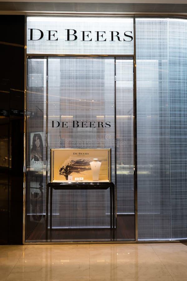 De Beers时尚精品店橱窗 香港 库存图片