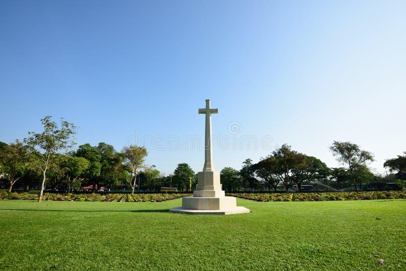 De Begraafplaats van de Kanchanaburioorlog, Thailand stock afbeeldingen