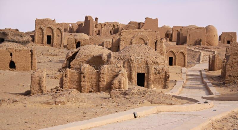 De Begraafplaats van Gr Bagawat, Kharga-Oase, Egypte royalty-vrije stock afbeeldingen