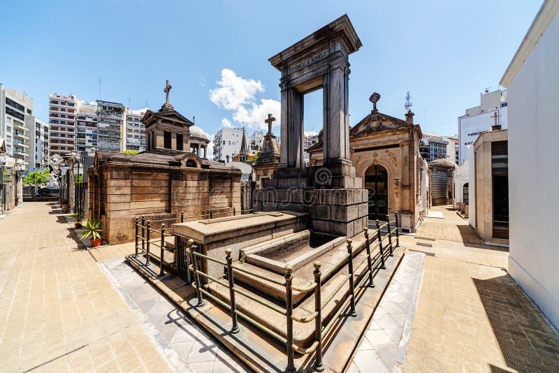 De Begraafplaats van La Recoleta stock foto's