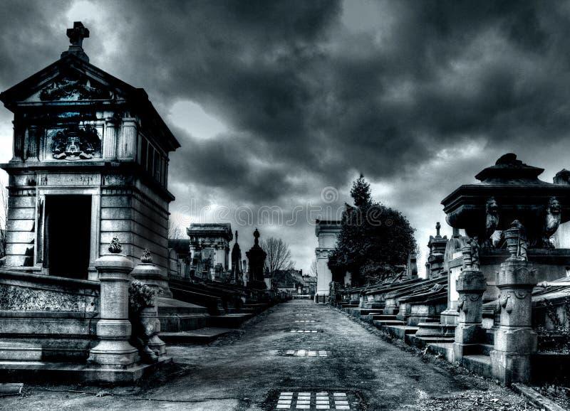 De begraafplaats van Laeken in Brussel stock fotografie
