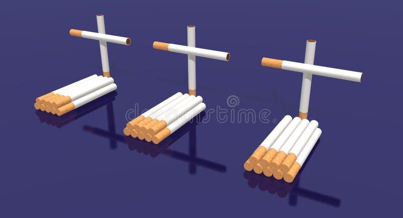 De begraafplaats van sigaretten royalty-vrije illustratie