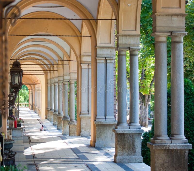 De begraafplaats van Zagreb Mirogoj stock fotografie