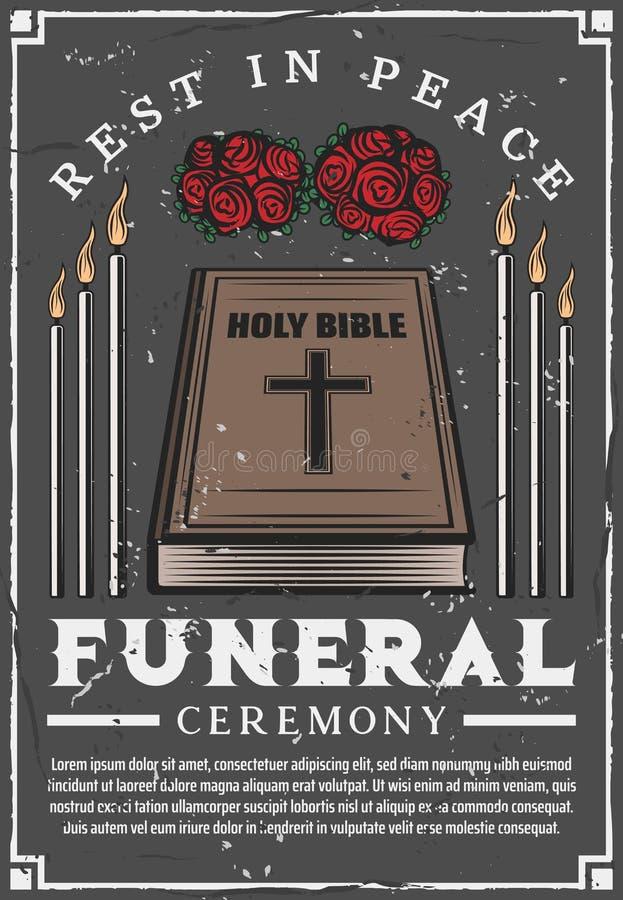 De begrafenisdienst, het agentschap van de begrafenisceremonie stock illustratie