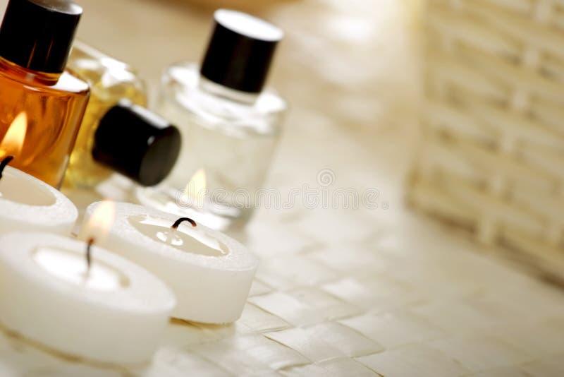 De behandeling van Aromatherapy stock afbeeldingen