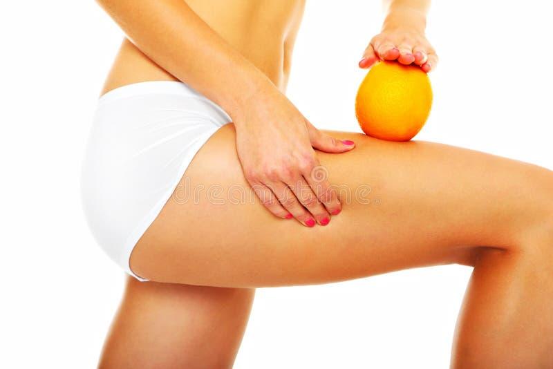De behandeling van Cellulite stock afbeelding
