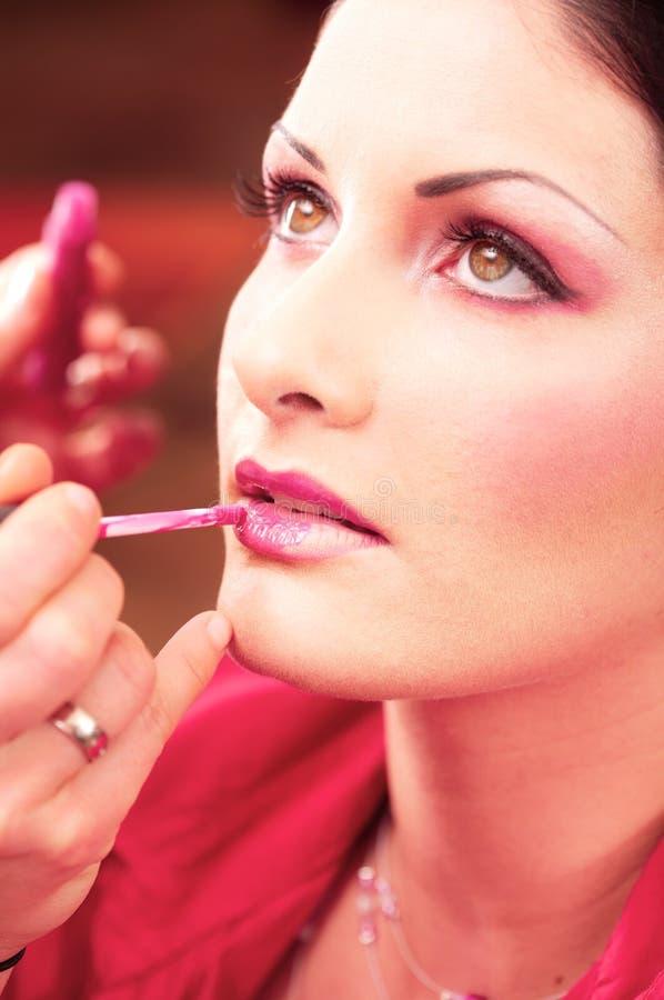 De behandeling van de make-up en van de schoonheid royalty-vrije stock afbeeldingen