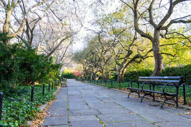 De behoudende tuin is de enige formele tuin in Central Park royalty-vrije stock afbeelding