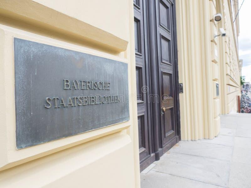 De Beierse Bibliotheek van de Staat stock foto