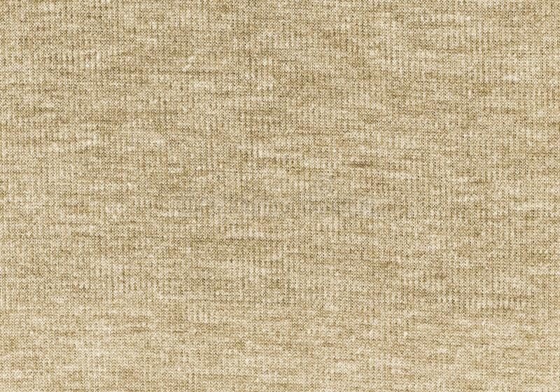 De beige gebreide natuurlijke achtergrond van de woltextuur stock foto