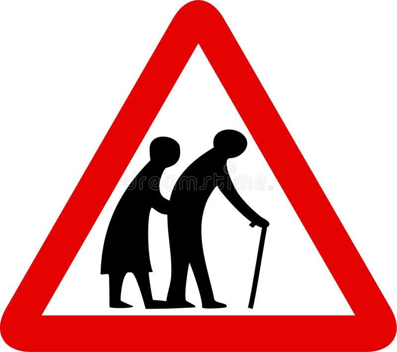 De bejaarde mensen ondertekenen stock illustratie