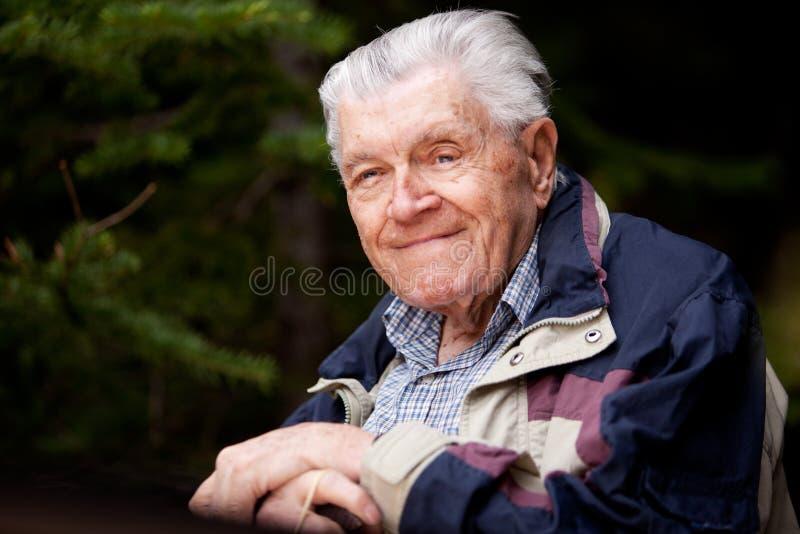 De Bejaarde van het portret royalty-vrije stock foto
