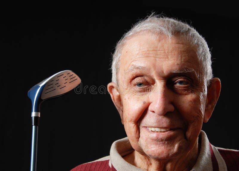 De bejaarden van het golf stock foto's