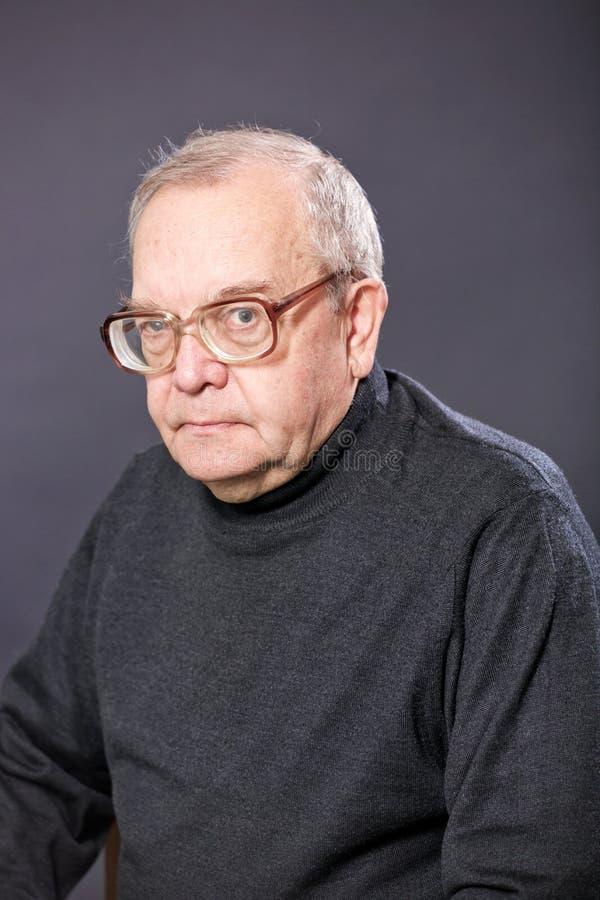 De bejaarden van het portret stock foto