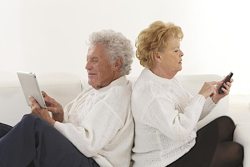 De bejaarden van Nice koppelen stock afbeeldingen