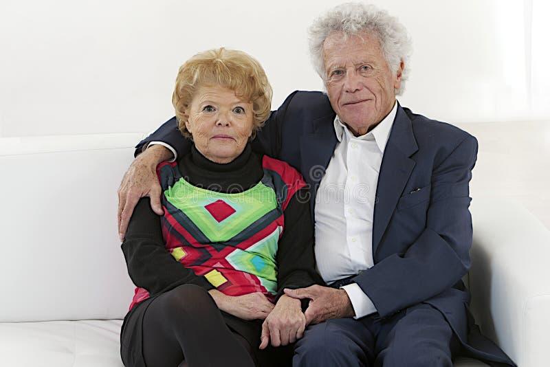 De bejaarden van Nice koppelen royalty-vrije stock foto's