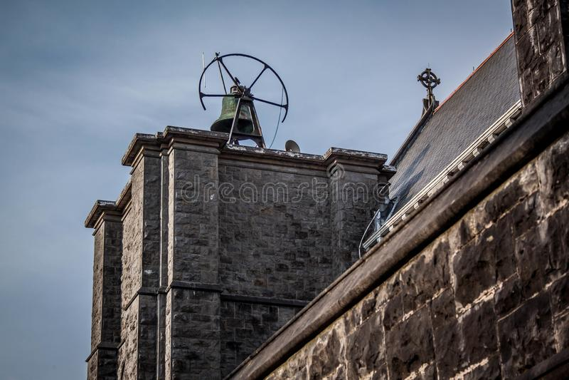 De bel op de kerk in Castlebar royalty-vrije stock afbeelding