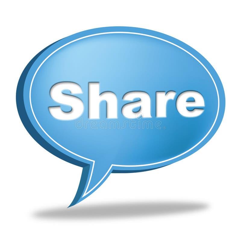 De Bel van de aandeeltoespraak betekent Sociale Media en Aanhanger vector illustratie
