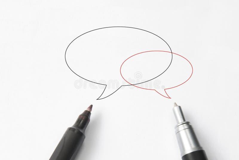 De bel van de bespreking met pen stock fotografie