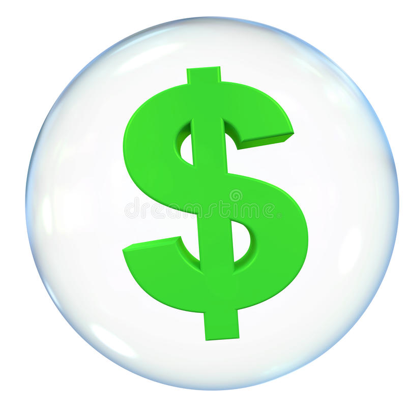 De Bel van de dollarmunt vector illustratie