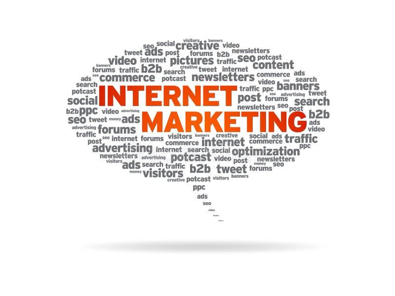 De Bel van de toespraak - de Marketing van Internet stock illustratie
