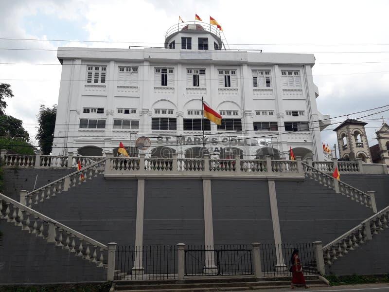 De belangrijke schoolbouw in Sri Lanka stock afbeelding