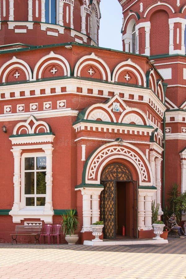 De belangrijkste ingang aan de Kazan Kathedraal in Volgograd stock afbeeldingen