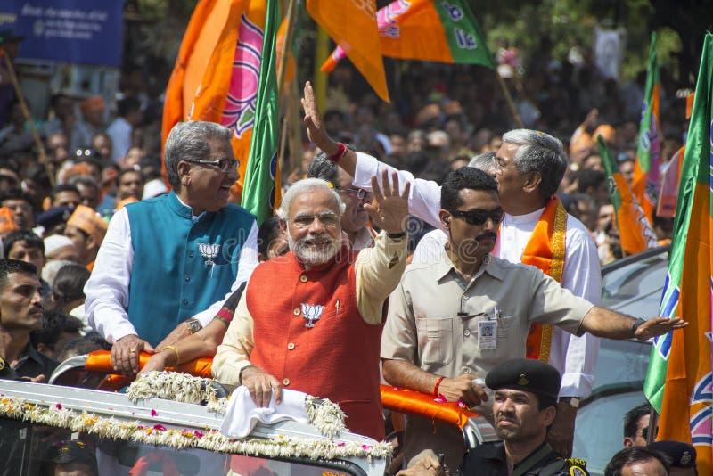 De Belangrijkste Minister en BJP eerste ministerieel c van Gujarat royalty-vrije stock afbeeldingen