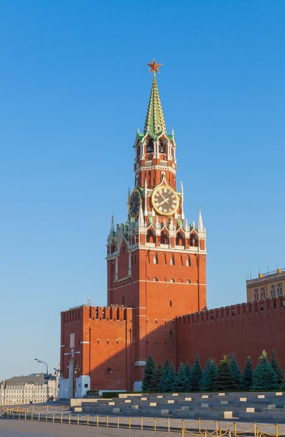 De belangrijkste Toren van Moskou het Kremlin stock fotografie