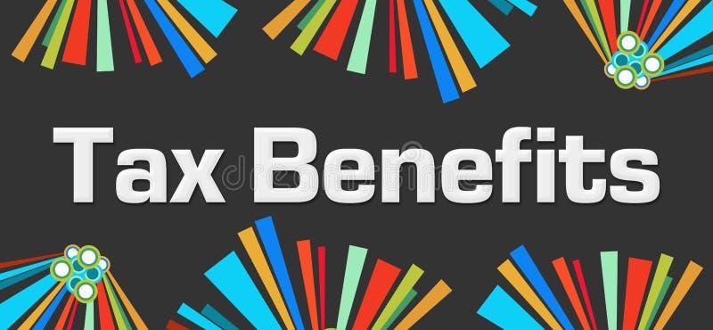 De belasting komt ten goede aan Donkere Kleurrijke Elementenachtergrond stock illustratie